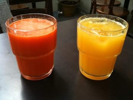 Orange and Carrot Juice in Tel Aviv